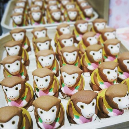 New year items, Osaka city, Japan. Monkey Face Monkey OSAKA Osaka-shi,Japan Animals