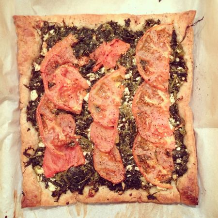 spinach feta tomato tart was well received tonight