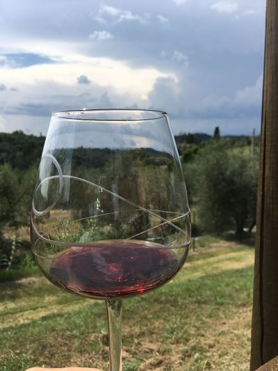 Sky Glass Wine Refreshment Wineglass Cloud - Sky Nature