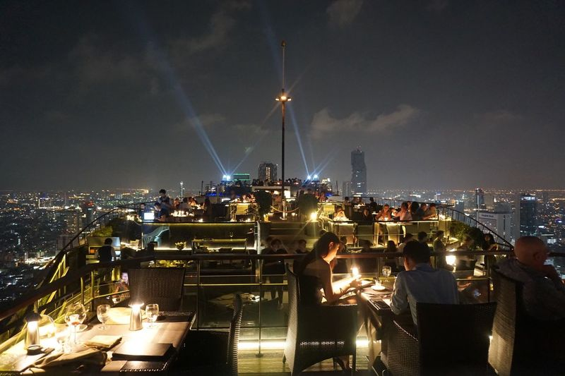 Illuminated Architecture Cityscape Urban Skyline Rooftop Bar Vertigo Fly High Night Rooftop Bar Bangkok Lifestyles The Architect - 2017 EyeEm Awards