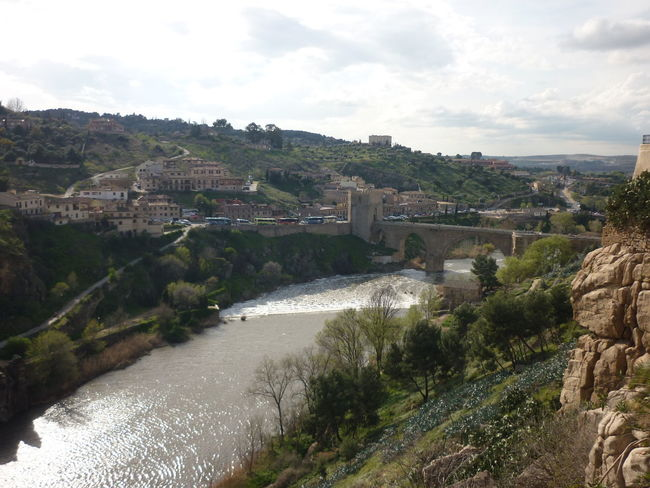 Choose your favorite Canyon Day Horizontal Houses Nature No People Outdoors Riverview Sky And Clouds SPAIN Sping In Spain Tajo Tajo River Toledo Toledo Spain Tree Tree Water Water Flow