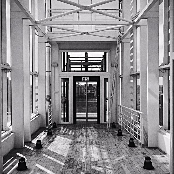 Architecture Waiting Elevator Monochrome Photography