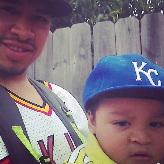 Throwback my son and I ! Ha Muggin