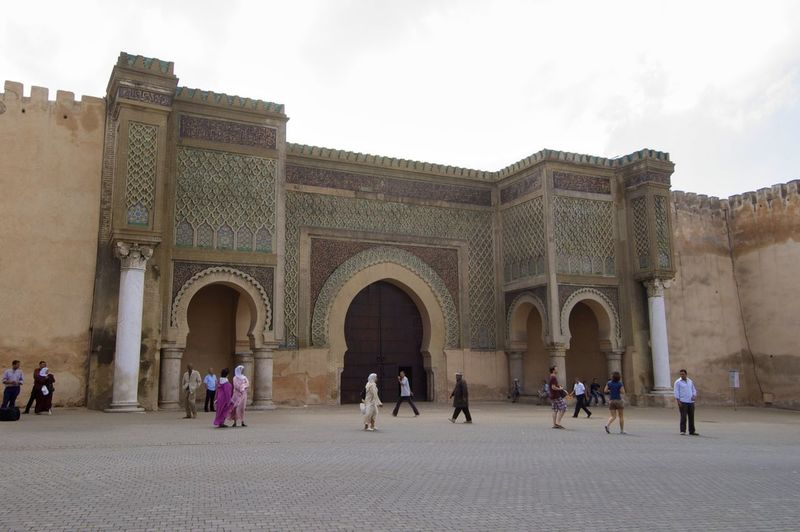 Old city centre of Meknes, Morocco. City City Wall Gate Meknès Morocco MoroccoTrip North Africa Africa Arch Architectural Column Architecture Building Exterior Built Structure Day History Imperial City Meknès City Outdoors Tourism Tourist Travel Travel Destinations