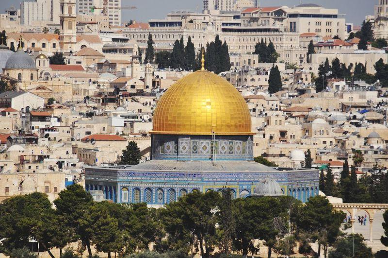 Golden view of jerusalem