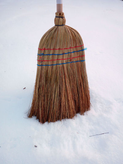 Broom Broomstick Brushing Day Hexenbesen No People Outdoors Schnee Fegen Snow Covered Snow Sweep Winter Winter Wonderland Witches