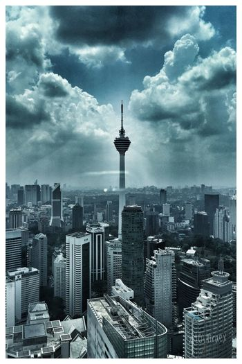 The tower City Cityscape Architecture Cloud - Sky Tall - High Sky Building Exterior Tower Skyscraper Travel Destinations Built Structure Urban Skyline No People Outdoors Day Modern