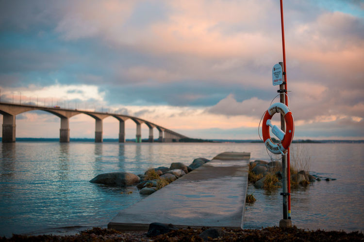 Beauty In Nature Bridge - Man Made Structure Cloud - Sky Connection Day Nature Nautical Vessel No People Outdoors River Scenics Sky Sunset Tranquil Scene Tranquility Transportation Water