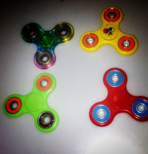 Which one will spin the most?!! Taking bets!!😂😂😜 Fidget Spinner Obsession Kid's Obsession Colorful Spin Stress Relief Stressreliever