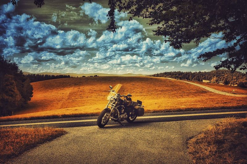 Bike Harley Davidson Street Relaxing Taking Photos Enjoying Life Landscape Photography On The Road Cloud - Sky Landscape_photography Home Is Where The Art Is Austria Capture The Moment Showcase August Colour Of Life The Week On Eyem Landscape Global Photographer-Collection Melancholic Landscapes Live To Ride Vienna Alps Pivotal Ideas A Photo Like A Painting Mystical Atmosphere