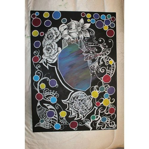 Mio disegno. Mio Disegno Arte Art Tela Acrilici Cuore Fiori Colori Bianco Nero Biancoenero Images Foto Pic Life Serenità Photo Ph Felicità Artista Pittrice Pittura