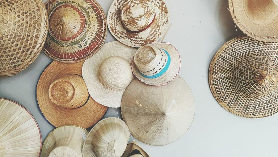 Indoors  Large Group Of Objects Close-up Day Background Room Decoration Pattern Hats Local Interior EyeEmNewHere