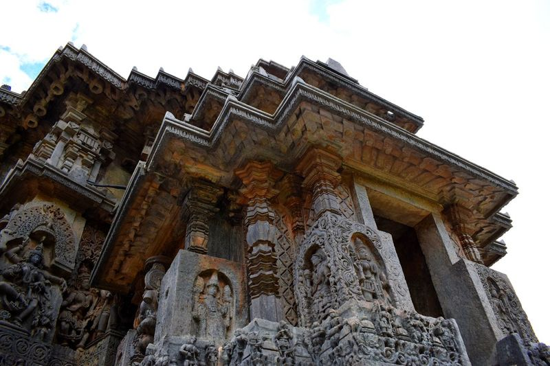 Architecture Halebidu Place Of Worship Ancient Low Angle View Statue Sculpture Worship Place Tredition Building Exterior Art And Craft Day Outdoors Cultures The Architect - 2017 EyeEm Awards The Architect - 2017 EyeEm Awards
