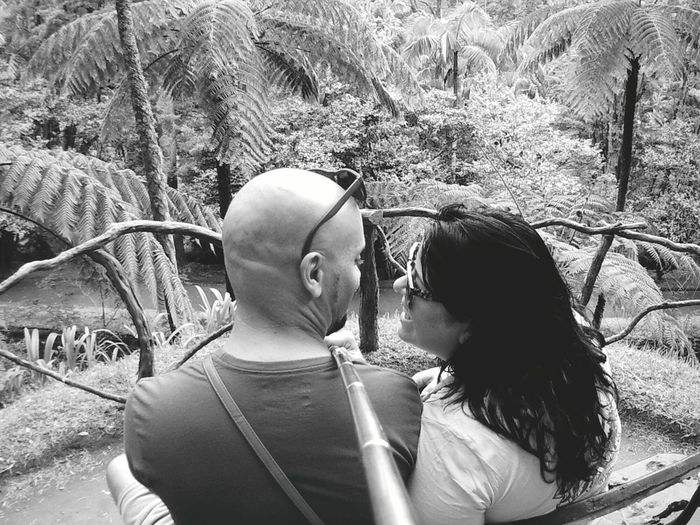 Modern Love Two People Togetherness Love Happiness Adult Adults Only Casual Clothing Smiling People Women Couple - Relationship Outdoors Day Fun Real People Bonding Young Women Men Young Adult Tree TERRANOSTRA Azores Island Gopro Black And White Friday