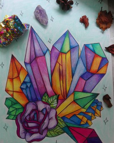 Draw Drawing Drawing, Painting, Artwork Art Art, Drawing, Creativity ArtWork Artwork By Me Sketch Pencil Crystal Auraquarz Creativity Creative Multi Colored Nofilter Today :) Picoftheday Photooftheday Like4like Artlover Bohemian Minerals Crystalhealing Friday Photoshoot