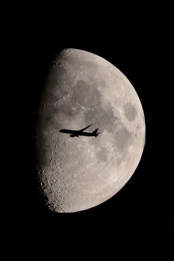 Fly me to the moon….. EyeEm Best Shots EyeEm Gallery Plane Planets Aircraft In The Sky Aircraft Photography Astrology Astronomy Beauty In Nature Black Background Details Details Of Nature Discovery Flying Light And Shadow Lucky Shot Moon Moon Surface Moonlight Nature Night No People Outdoors Sky Space My Best Photo
