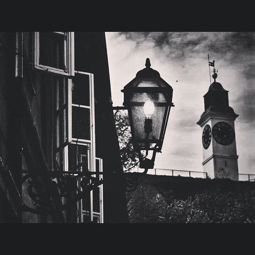 Night Lamp Clocktower Sky Casements Light Dreams Photo Capture Moment Bw Instabw Newapp Filter