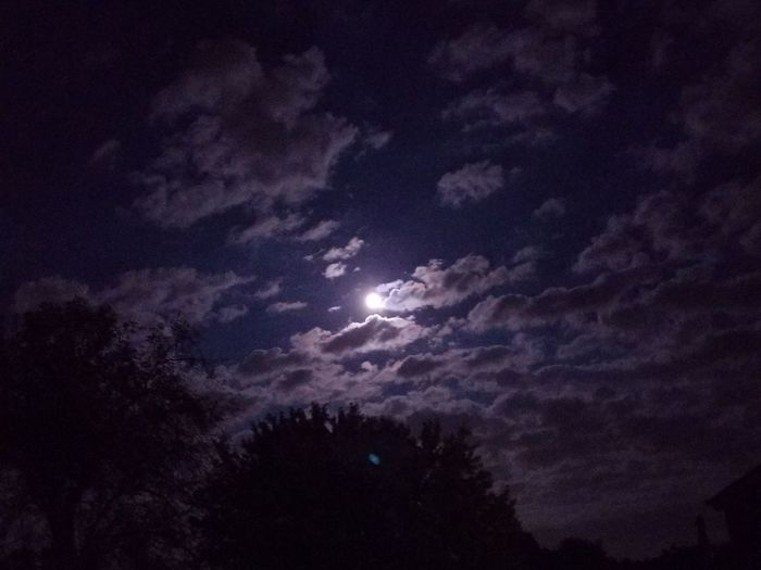 Night Milky Way Astronomy Star - Space Space Sky Low Angle View Cloud - Sky Nature No People Outdoors Galaxy Moon Scenics Beauty In Nature Dark Power In Nature Illuminated Tranquility Moonlight Clouds Clouds And Sky Pennsylvania Storm CloudHad fun with the moon and clouds tonight The Week On EyeEm
