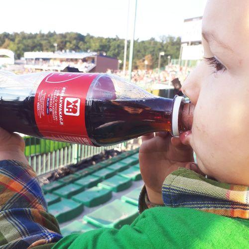 One Person Day Kids Kidsboy Photo Stadium Stadium Atmosphere Coca-cola Sports Clothing Falubaz Zielona Gora Speedway Myhobby