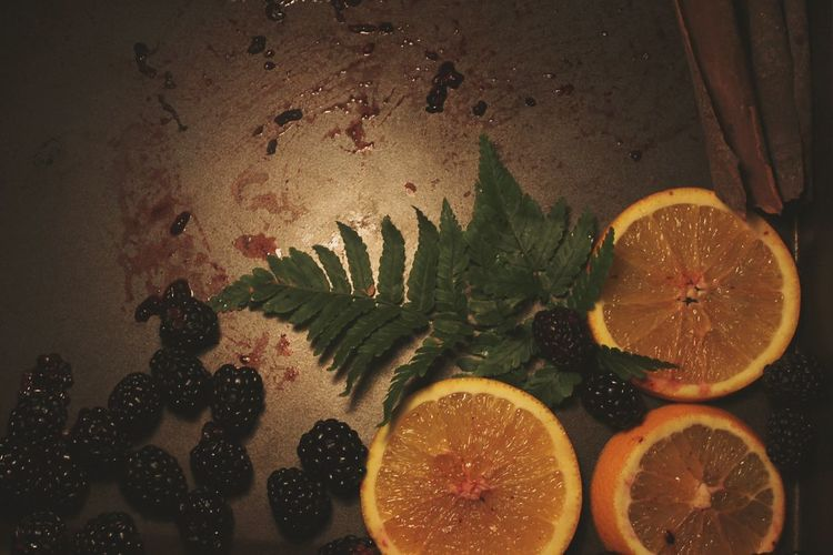 """""""There's too much fruit in the fridge."""" Rustic Blackberry Orange Fruit Photography Indoors"""
