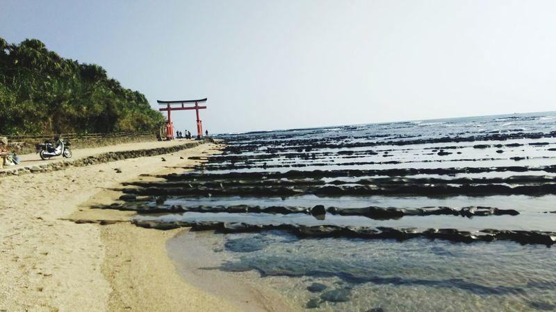 Beach Sea Horizon Over Water Outdoors No People Landscape Pacific Ocean Miyazaki, Japan Miyazaki Prefecture Shinto Shrine Aoshima Shrine Aoshima Aoshima Beach Terrain Rock