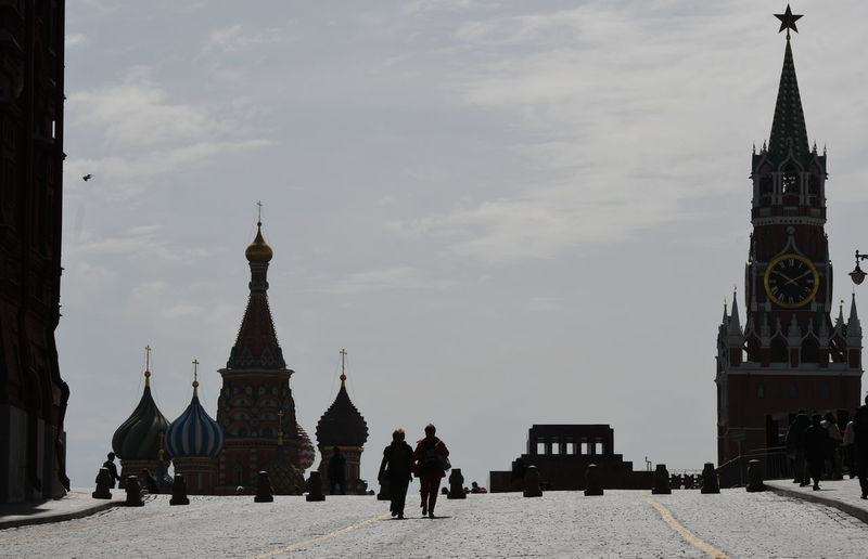 Roter Platz Juni 2017 Lenin-Mausoleum Roter Platz Spasski Turm Moskau Russland