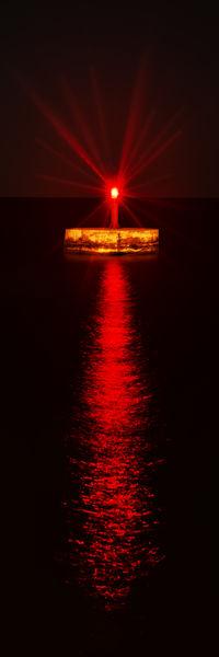 lighthouse Night Redlight Red Sea Lighthouse