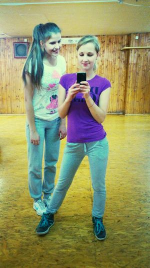 with ma friend!;)) After Training ^_^