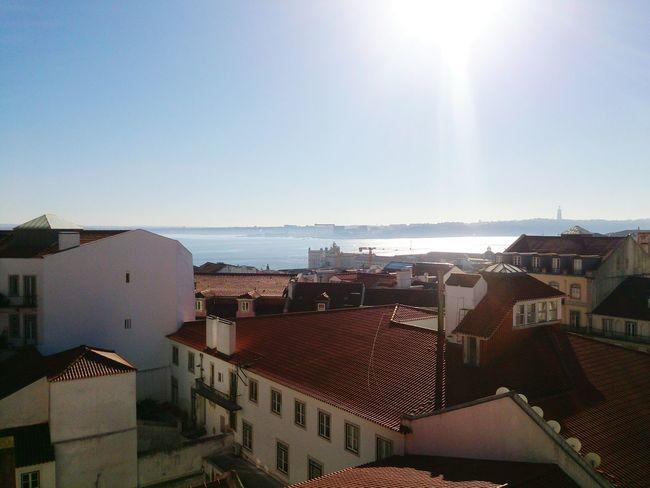 Lisboa Rooftops Tejo Sunshine Lisbon