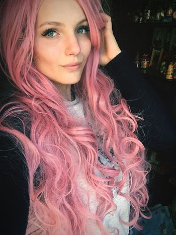One Person Fashion Pinkhair Pink Color Pink Longhair Loveit Pretty Girl Long Hair Goodday Popular Photos Popular Hello World Relaxation Beauty EyeEm Selects 😍😌😊 ❤❤❤ Russian Girl Happy Lifestyles Beautiful Casual Clothing Summer Summer2017