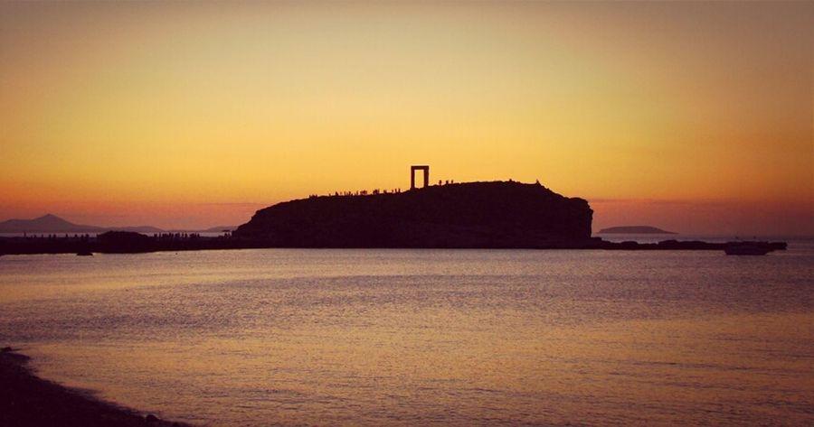 Sunset Sky Enjoying The Sunset Island Missing Greece Naxos