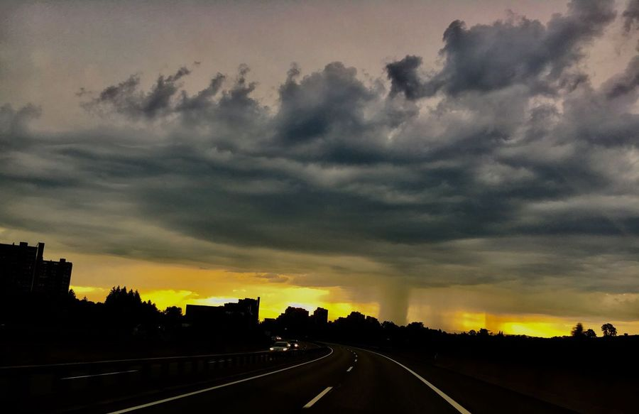 Dramatic Sky Road Sky Sunset Cloud - Sky Hurrican in