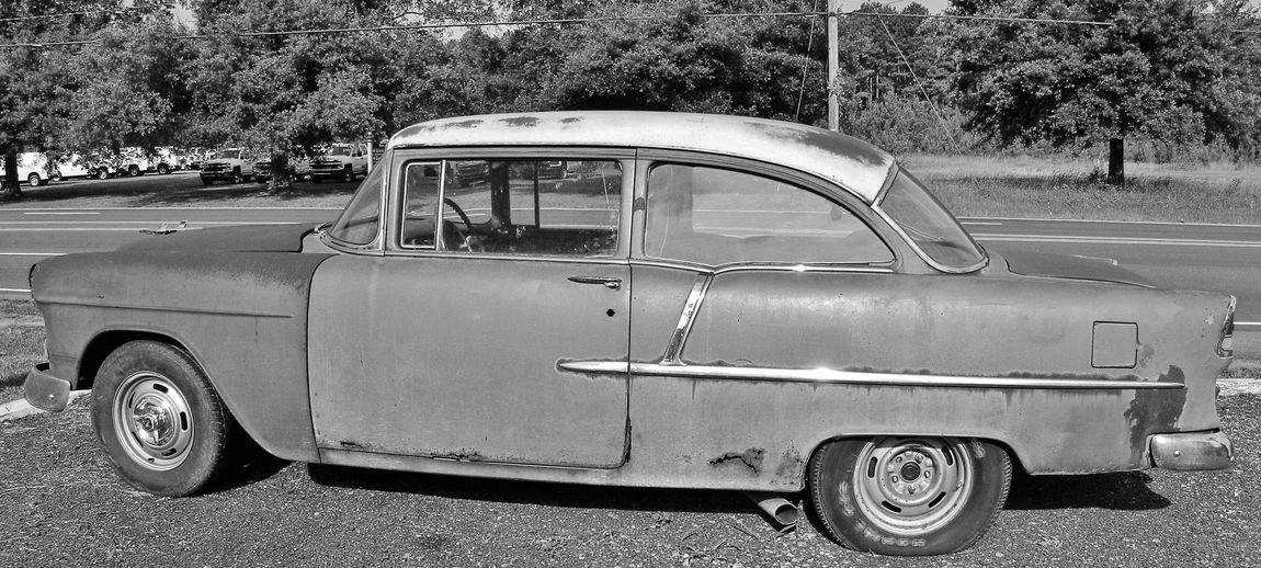 Still a classic Black & White 1950's Vehicles Black And White Car Classic Close Up Day Displayed Land Vehicle Mode Of Transport Model Nostalgia Nostalgic  Old Outdoors Parked Parking Lot Photo Of Picture Of Road Roadside Stationary Transportation Two Door Vehicle Vintage Car