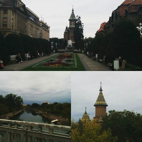 Timisoara is such a stunning city... I mean, it's like to be out of time, the world keeps evolving but her... Timisoara Romania PiataVictoriei Begariver Orthodoxcathedral October Autumn 2015  Faveseason Timestill Beatiful Landscape