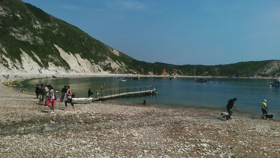 Lulworth Cove Beauty In Nature Beautiful Day Coastal Views Boats And Water Clear Sky Coastal Walk