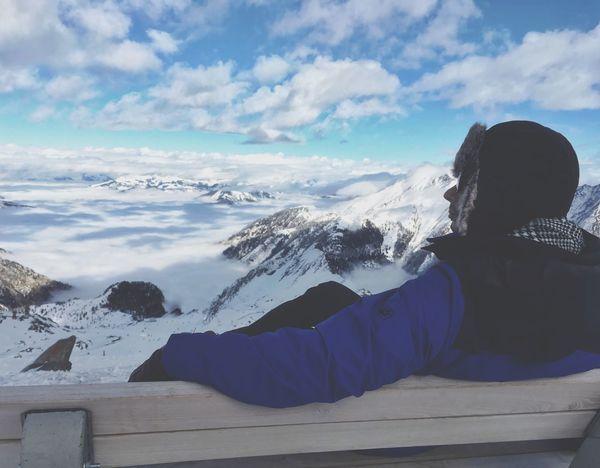 Winter Sky Kitzsteinhorn Mountain Skyline Salzburg Kaprun, Austria Snow Nature Cold Temperature Beauty In Nature Outdoors Sunnyday Cloud - Sky IPhoneography My Year My View
