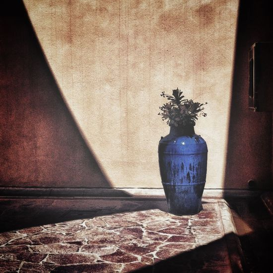 Blue vase: iphone4, snapseed Shadows IPhoneography IPSShadows Mobile Photography Mobilephotography Streetphotography Blue Still Life