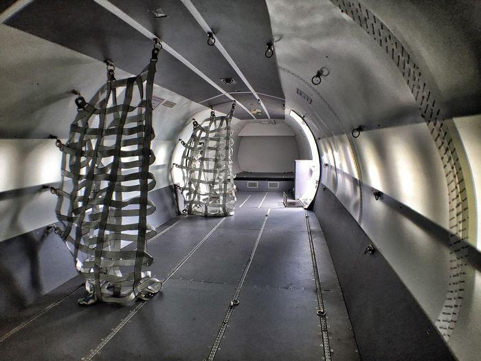 Interior of cargo plane