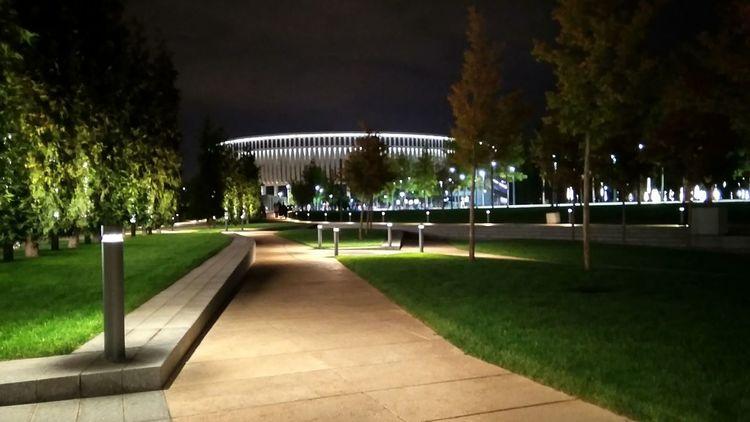 Architecture Stadium Arena Nightphotography Mobilephotography City Tree Illuminated Park - Man Made Space Grass Sky