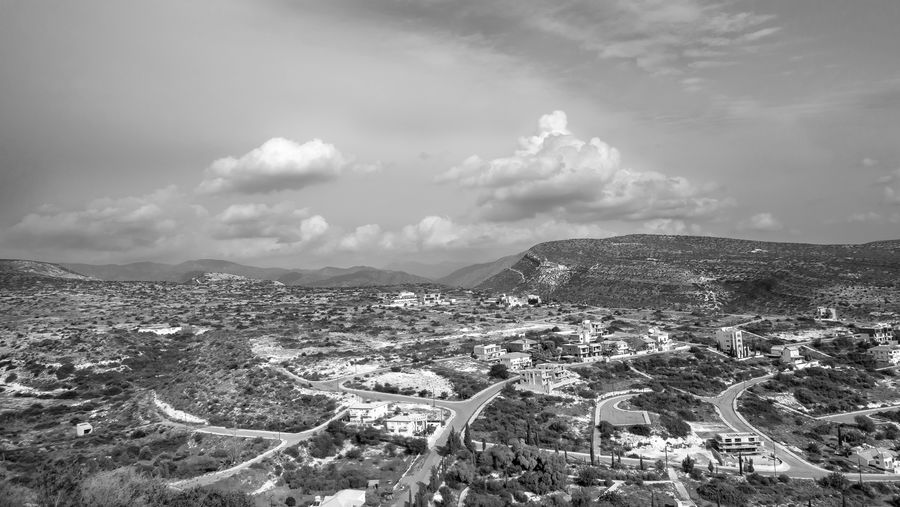 Cloud - Sky Sky Architecture Mountain City Scenics - Nature Building Exterior Nature Built Structure Day Beauty In Nature Environment No People High Angle View Aerial View Landscape Cityscape Mountain Range Tranquil Scene Outdoors Ominous Blackandwhite Black And White Ladnscape Landscape Photography