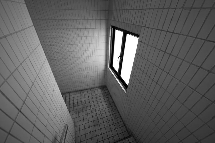 Architecture Building Flooring Glass Glass - Material Indoors  Pattern Stairs Stairway Stairwell Tile Tiled Floor Wall Wall - Building Feature Window