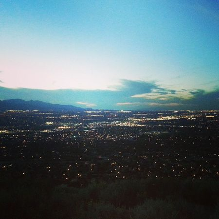 The view of the whole salt lake valley Datview Amazing Awesome Cool Lights Hiking Fun