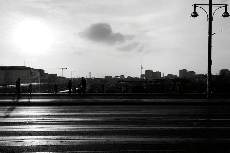Day 288 - Walking on the bridge Berlin Blackandwhite Bridge Streetphotography Streetphoto_bw 365project 365florianmski Day288