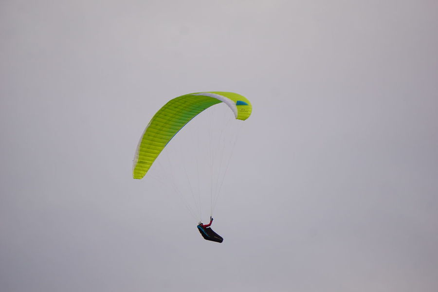 Adventure Day Exhilaration Extreme Sports Flying Freedom Gliding Leisure Activity Lifestyles Low Angle View Mid-air Nature One Person Outdoors Parachute Paragliding People Real People Skydiving Sport Stunt Person Tenerife Tenerife Island Unrecognizable Person Vitality