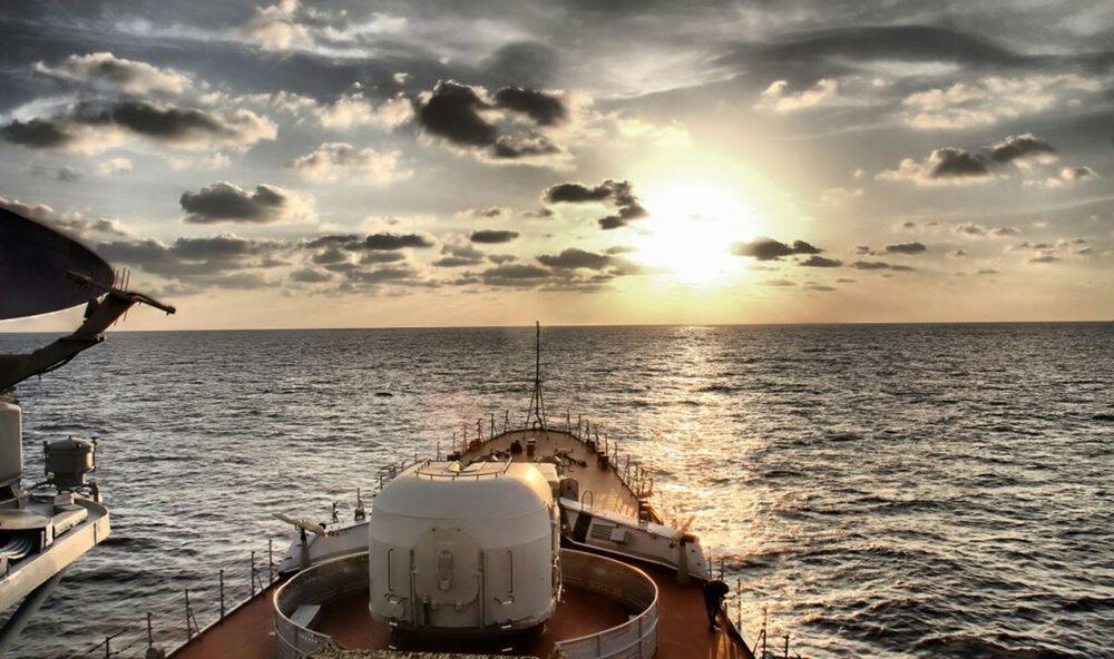 The navy frigate at the Atlantic ocean, ship, NAVY