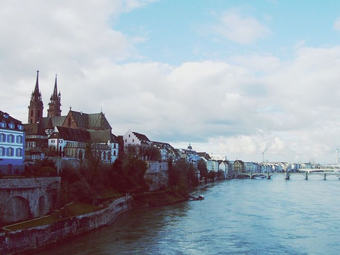 Switzerland Basel Rhine City At The River Old City Endless Europe Landscaped