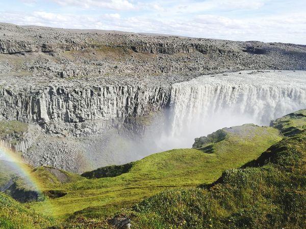 Detifoss, Iceland Water Waterfall Sky Cloud - Sky Landscape