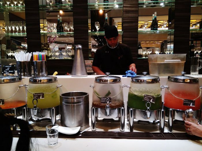 Drinks Four Seasons  Bar Counter One Person People Food And Drink Indoors  Bartender Adults Only