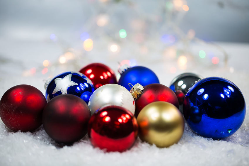 Ball Celebration Christmas Christmas Decoration Christmas Ornament Close-up Decoration Holiday Illuminated Indoors  Large Group Of Objects Multi Colored No People Selective Focus Shape Shiny Snow Sphere Winter