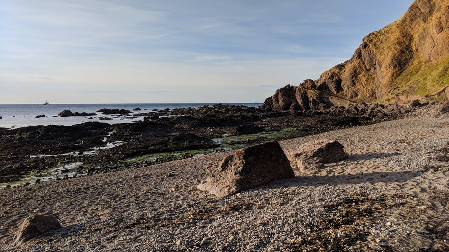 Sea Beach Cliff Water Rock - Object Sand Dune Sky Horizon Over Water Rock Formation Rocky Coastline Physical Geography Scenics Coast Shore